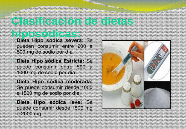 Alimentos que se pueden comer en una dieta hiposodica